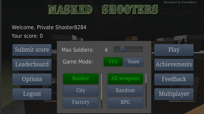 Masked Shooters Creating Map