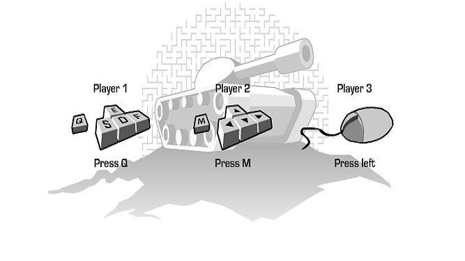 Tank trouble controls for players
