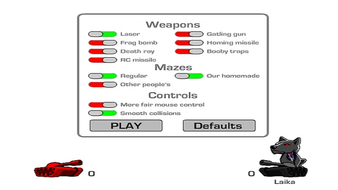 Tank trouble customaze maze and choose weapons
